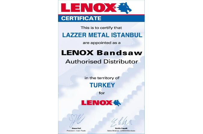 Lazzer-metal-sertifikasi